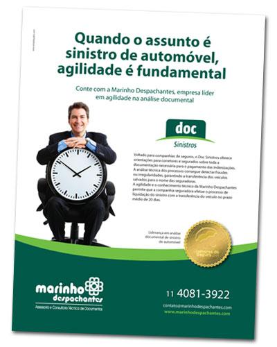 Anúncio da Marinho Despachantes para a Revista Apólice