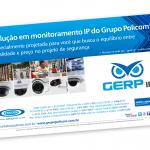 """Anúncio em revista especializada para o """"Grupo Policom""""."""